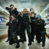 Hot Fuzz - supermarket - guns blazing