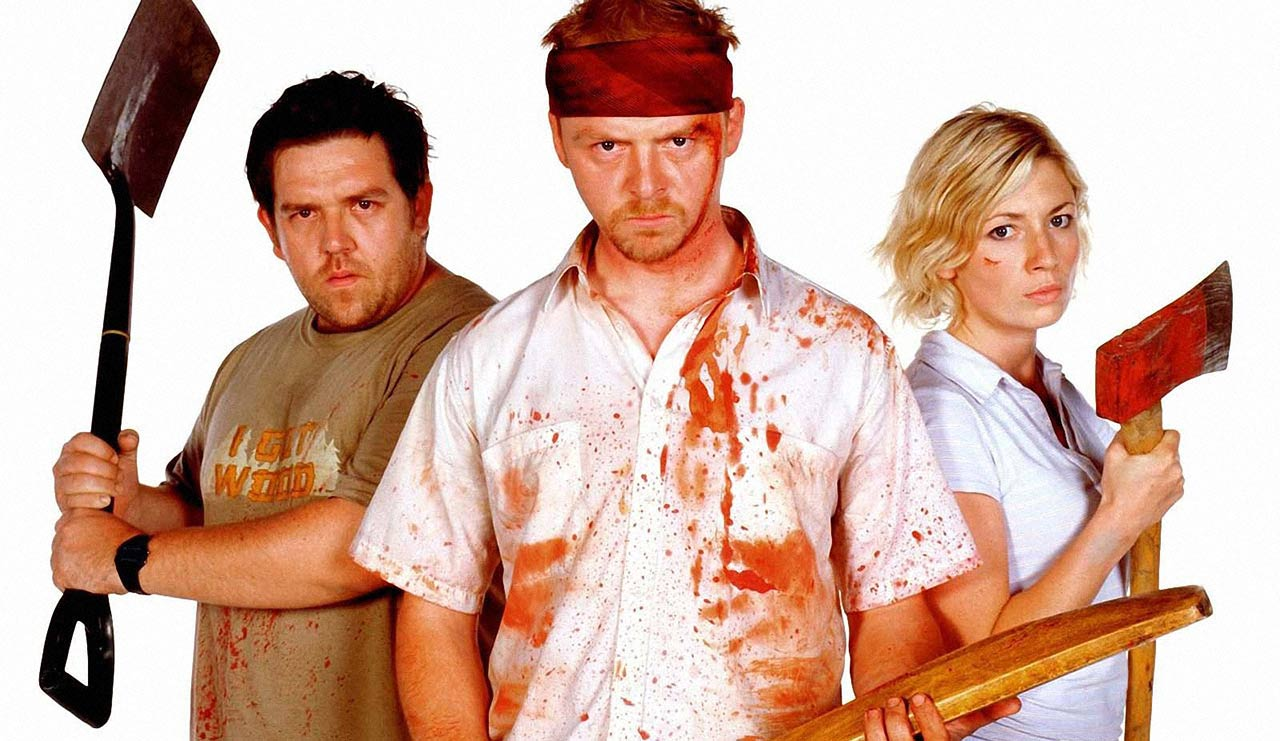 Shaun of the Dead's Nick Frost, Simon Pegg & Kate Ashfield